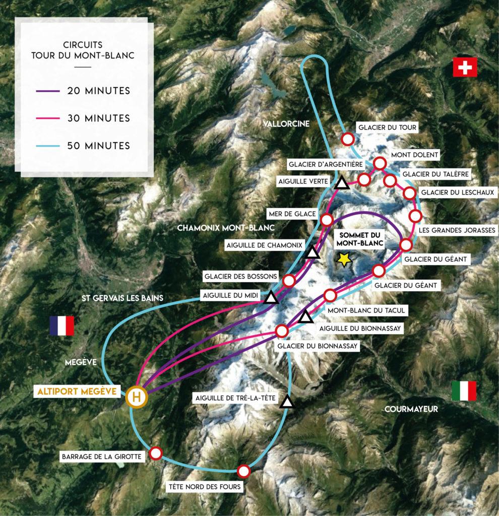 Tourist flights - Tour of Mont-Blanc - Mont Blanc Hélicoptères Megève
