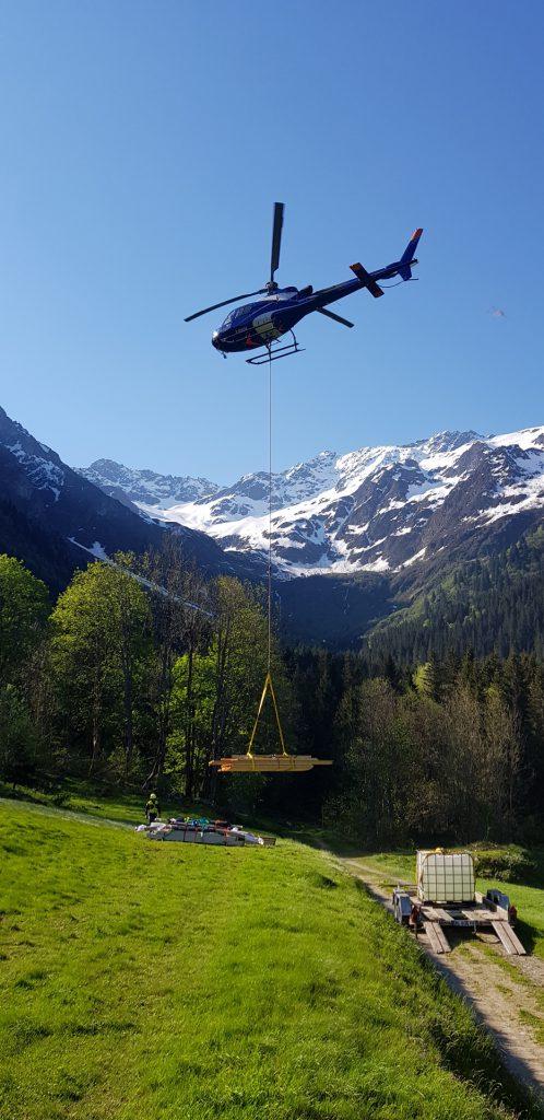 Travail aerien - Héliportage - Mont Blanc Hélicoptères Megève