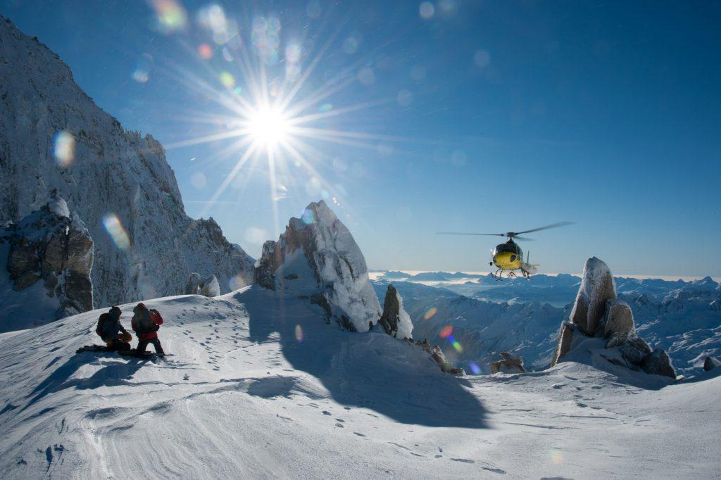 Flights Experiences - Off piste picks-up - Mont Blanc Hélicoptères Megève