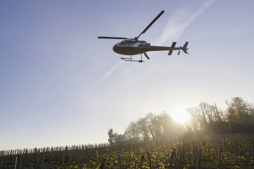 Travail aerien - Lutte anti gel - Mont Blanc Hélicoptères Megève